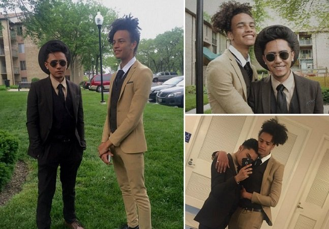 Garoto leva seu namorado a baile formatura em segredo e fotos viralizam na web