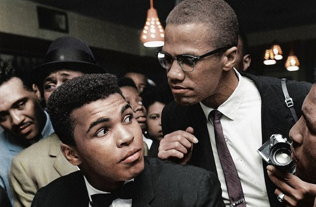 Muhammad Ali com o líder negro Malcom X