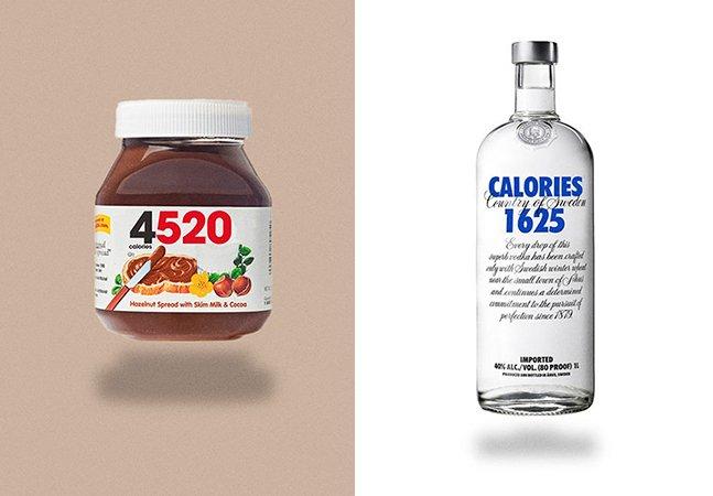 Conta no Instagram redesenha logos de snacks famosos pra mostrar a quantidade de calorias de cada um