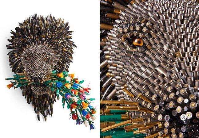 Artista celebra processo de paz na Colômbia transformando balas em belíssimas esculturas
