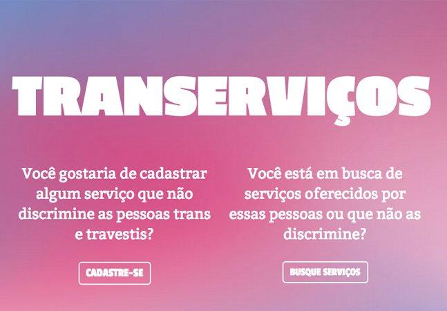Novo site reúne serviços oferecidos por pessoas trans e travestis