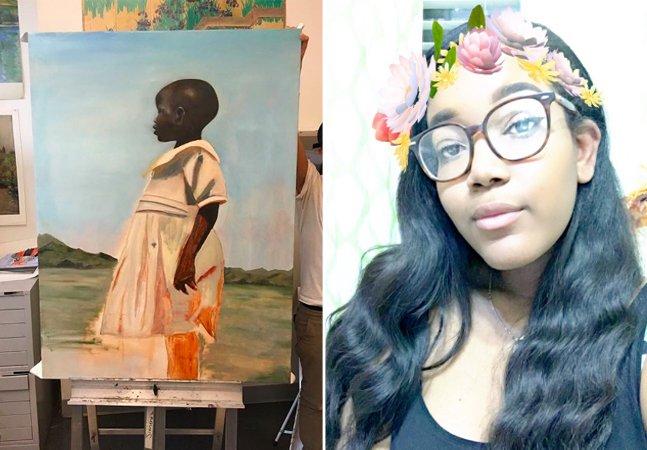 Veja como uma simples fotografia  inspirou uma pintura e mudou para  sempre a carreira desta jovem artista