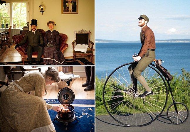Este casal abdicou de gadgets e transportes para viver como na era Vitoriana
