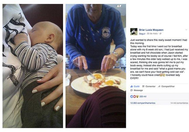 Esta mãe foi criticada por amamentar  em público e deu a melhor resposta