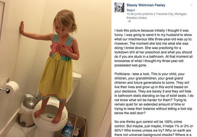 A foto viral de uma menina de 3 anos que chocou a internet