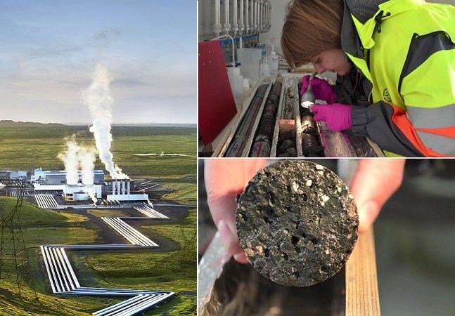 Os islandeses descobriram uma  maneira de transformar suas  emissões de carbono em rochas