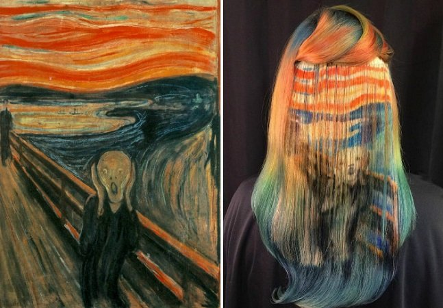 Estilista recria obras de artistas famosos no cabelo das pessoas e o resultado é incrível