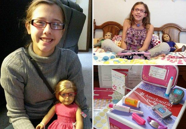 Marca atende pedido de menina de 11 anos e cria boneca com kit para diabetes