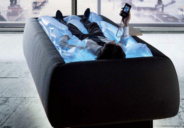 Este mecanismo permite  que você relaxe como numa piscina,  mas sem água