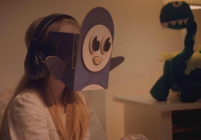 Marca cria histórias em Realidade Virtual para pais e filhos viverem juntos, mesmo que à distância