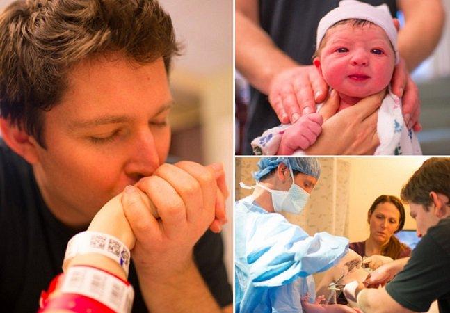 Mãe capta imagens de seu próprio parto e o resultado é maravilhoso