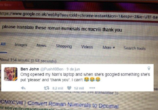 Essa vovó encantou a internet com seu jeitinho fofo de fazer pesquisas