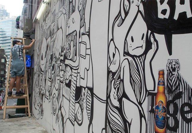 O incrível projeto que transforma poluição do ar em tinta para graffiti