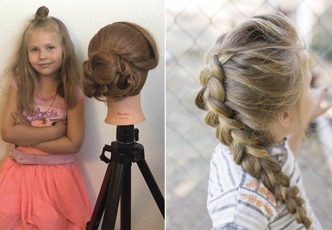 Esta menina de 5 anos está conquistando a internet com seu talento para penteados