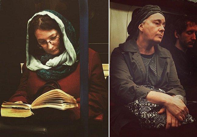 Artista transforma imagens de pessoas no metrô em pinturas do século 16