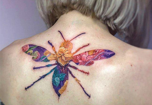 A incrível técnica da dupla exposição nas tatuagens deste artista polonês