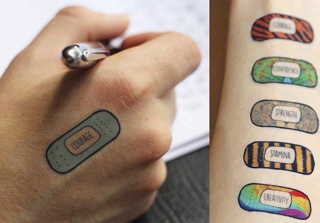 Tatuagens temporárias e inspiradoras para te ajudar a ultrapassar os dias difíceis