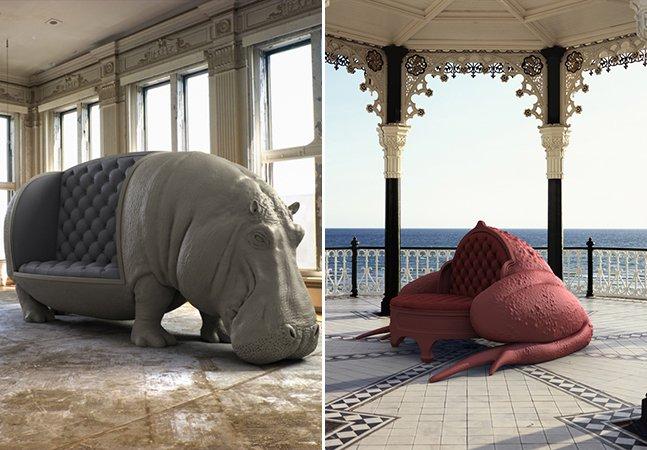 Designer se inspira nas formas animais para criar cadeiras e sofás maravilhosos