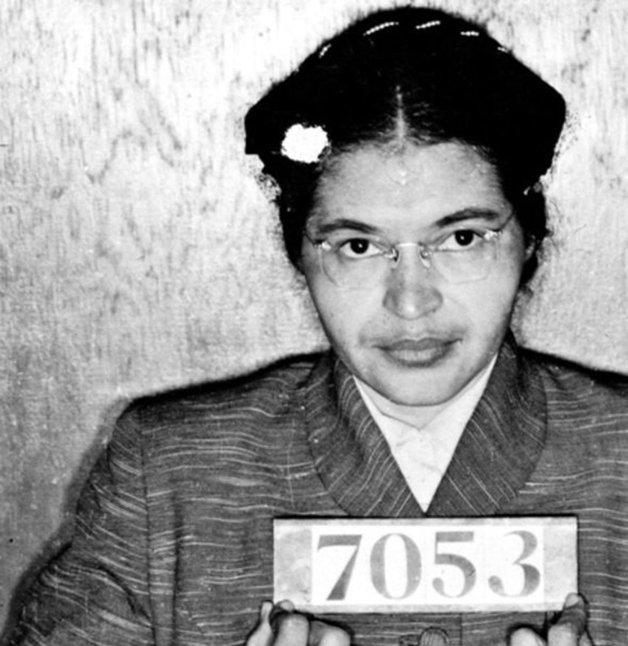 Rosa Parks detida, em 1955