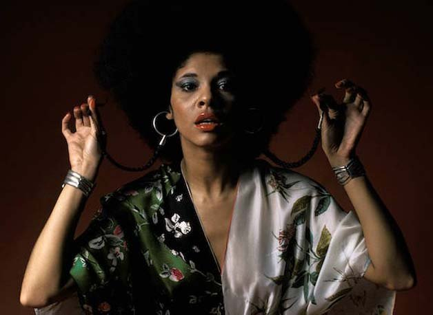 UNITED STATES - FEBRUARY 01: Photo of Betty DAVIS; Posed studio portrait of Betty Davis (Photo by Fin Costello/Redferns)