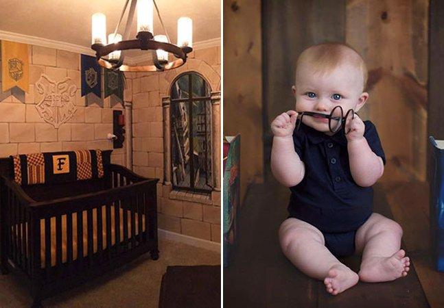 Pais se inspiram em Harry Potter para transformar quarto de seu bebê e o resultado é maravilhoso