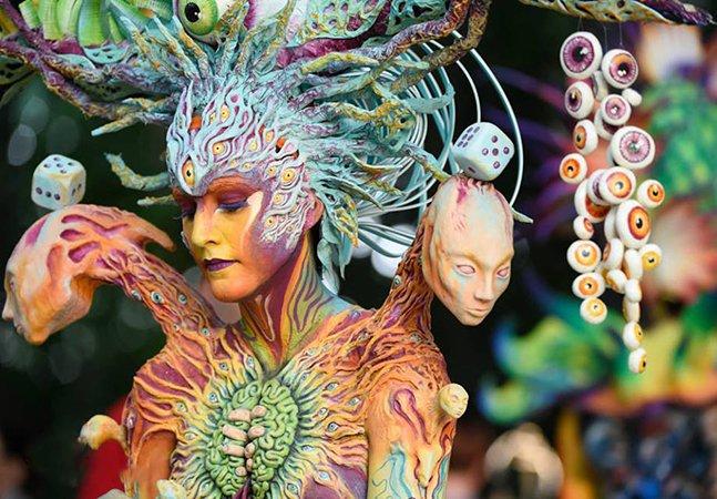 Já é hora de conhecer o incrível – e colorido – festival de pintura corporal