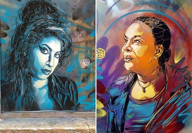 Artista cria murais coloridos para mostrar a força das mulheres que o inspiram