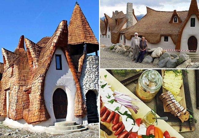 Casal constrói casa inspirada em contos de fadas e 100% orgânica