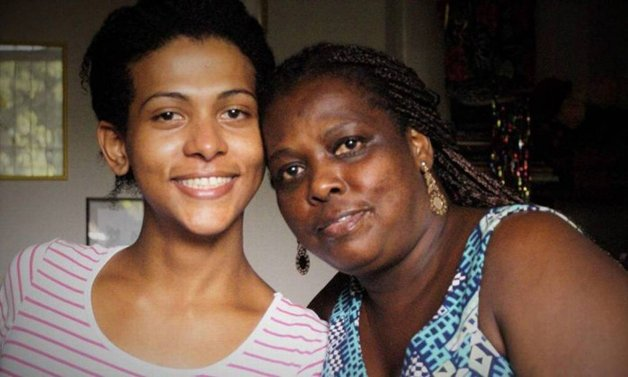 Danieli com sua mãe
