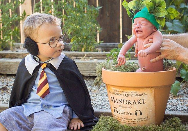 Pais apaixonados por Harry Potter dão as boas-vindas a seu bebê com álbum adorável inspirado na saga