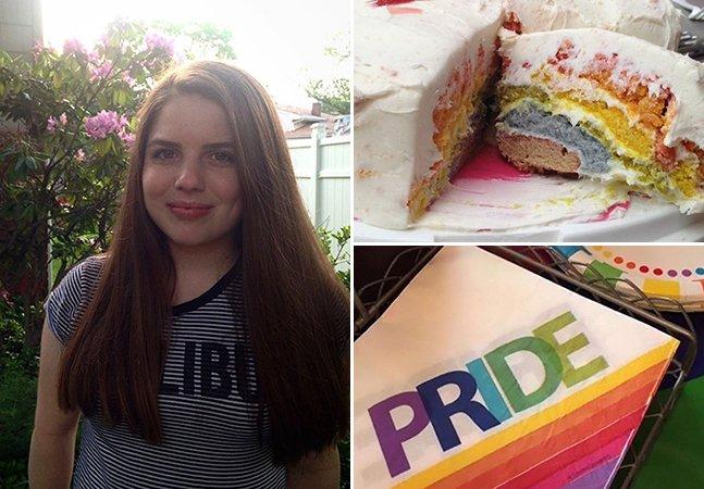 Ela contou para os pais que era homossexual e eles responderam com uma festa pra celebrar orgulho gay