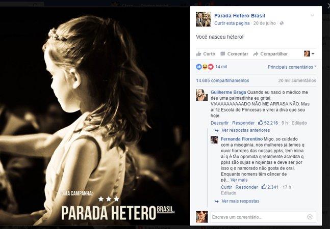 Os comentários nesse post sobre a Parada Hétero são uma verdadeira aula de lacry