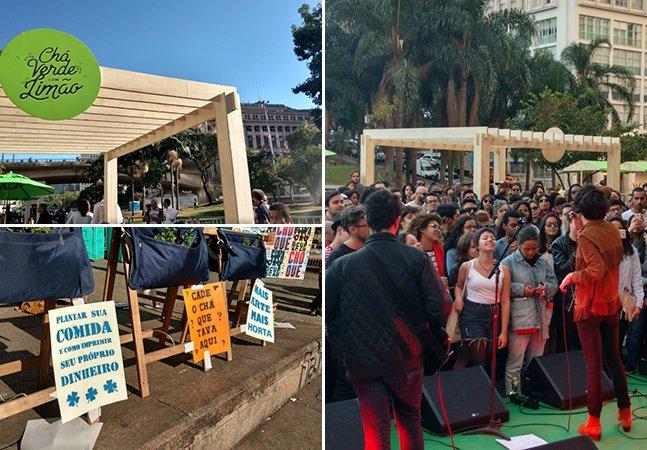 Domingo de sol no Anhangabaú ao som de DJs Nuts e Thiago Pethit
