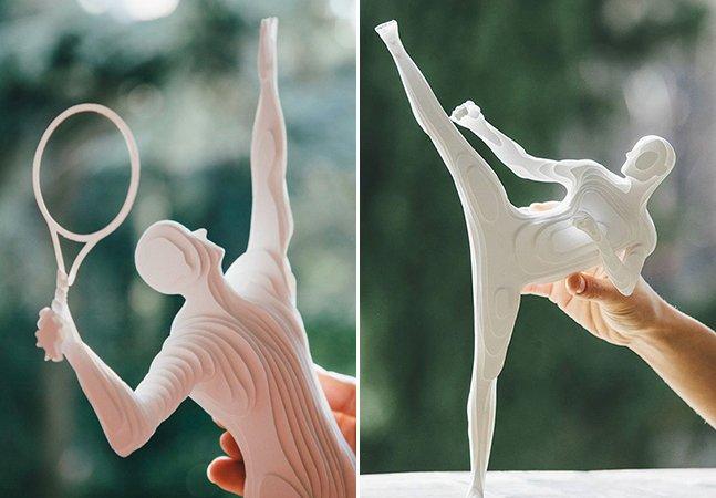Artista transforma atletas olímpicos em incríveis esculturas de papel
