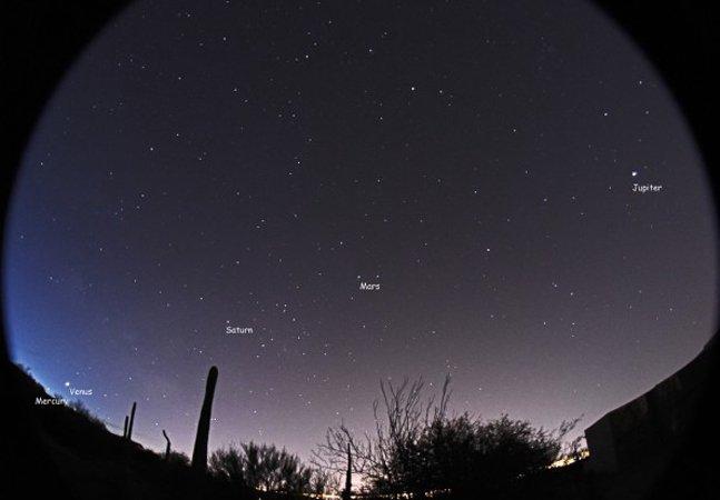 Essa é sua última oportunidade  de ver nos céus esse fenômeno  interplanetário em 24 anos