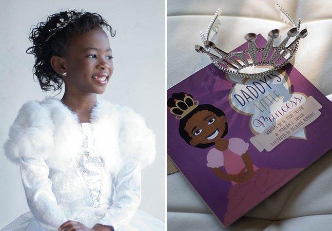 Menina de 7 anos que não se sentia representada escreve livro para provar que negras também podem ser princesas
