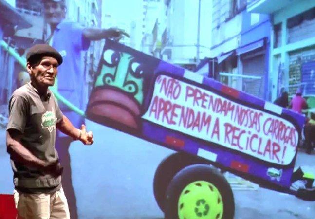 Atleta da reciclagem, catador vai carregar a tocha olímpica em São José dos Campos