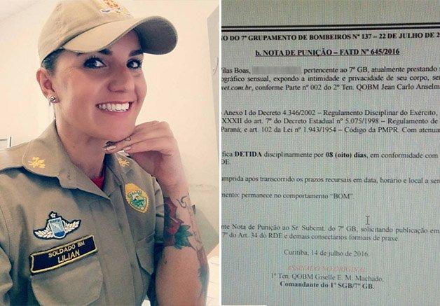 Bombeira do PR recebe ordem de  prisão por participar de ensaio fotográfico sobre empoderamento feminino