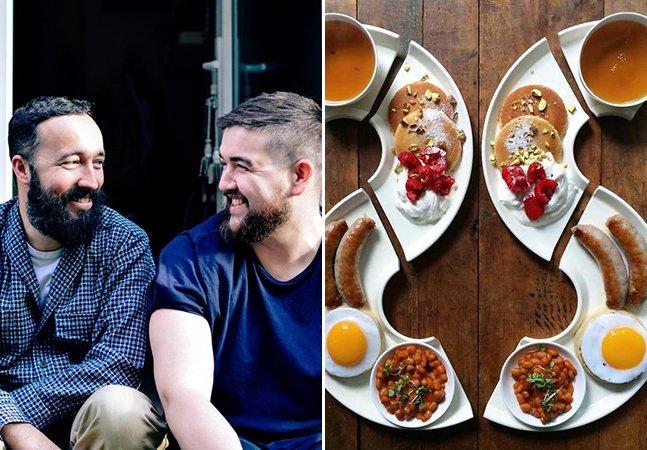 Isso é amor: ele prepara todos os dias o café da manhã pro seu namorado com pratos incríveis – e simétricos