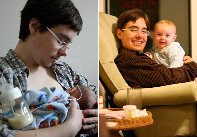 Homem trans relata sua experiência de dar à luz dois filhos e amamentar