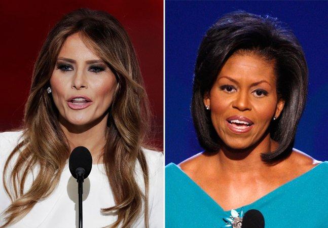Melania Trump plagia Michelle  Obama em discurso para lançamento  da candidatura do marido nos EUA