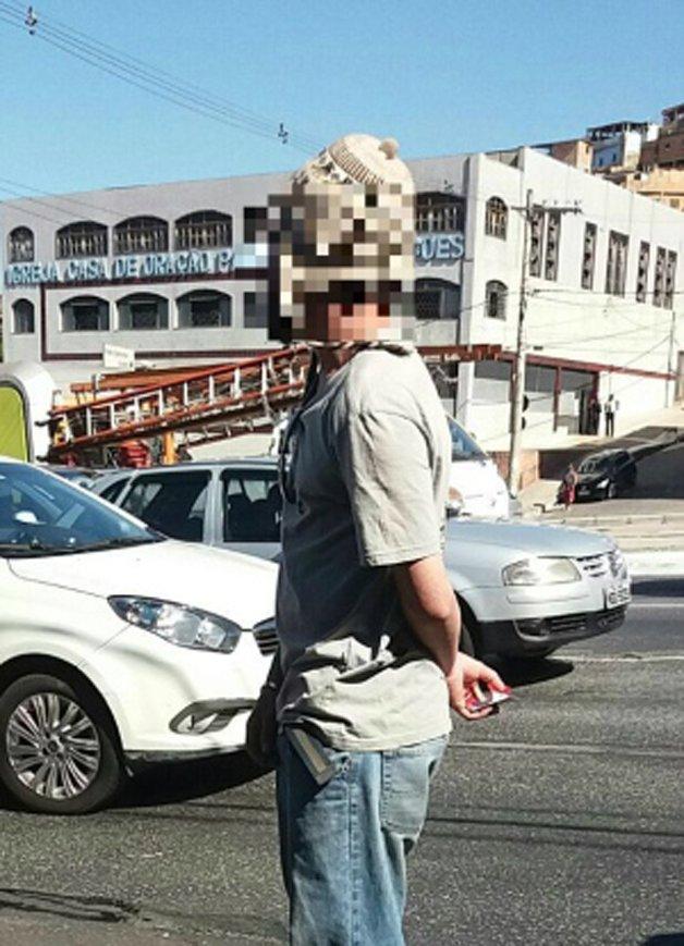 O taxista, depois de detido e liberado