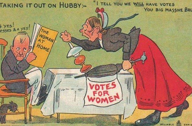 Descarregando no marido: eu te digo que nós vamos ter o direito de votar! Sim, sim, sim - ele responde.
