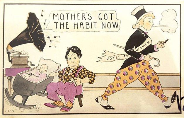 A mãe ganhou o hábito.