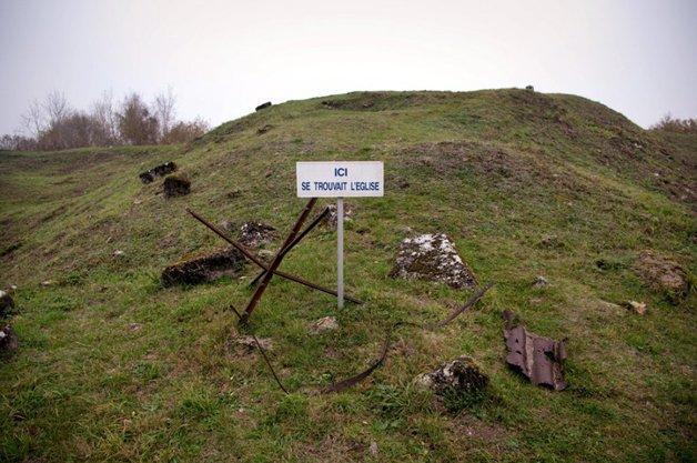 Butte de Vaucquois dans la Meuse (55).