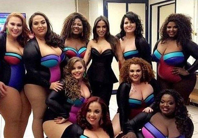 Bailarinas plus size roubam a cena ao se apresentarem em show da cantora Anitta