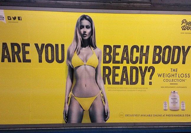 Transporte público de Londres bane propaganda com corpos inatingíveis