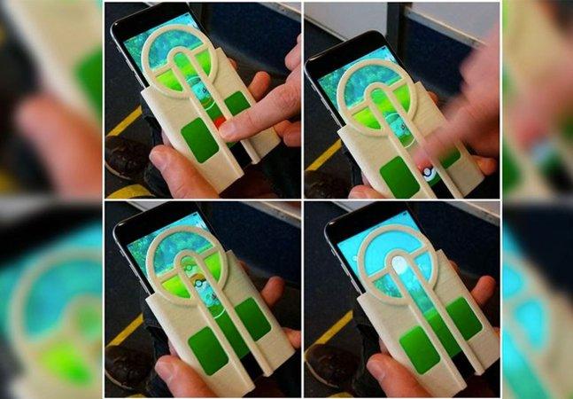 Ele usou uma impressora 3D para criar um case de celular que torna mais fácil a captura de Pokémon