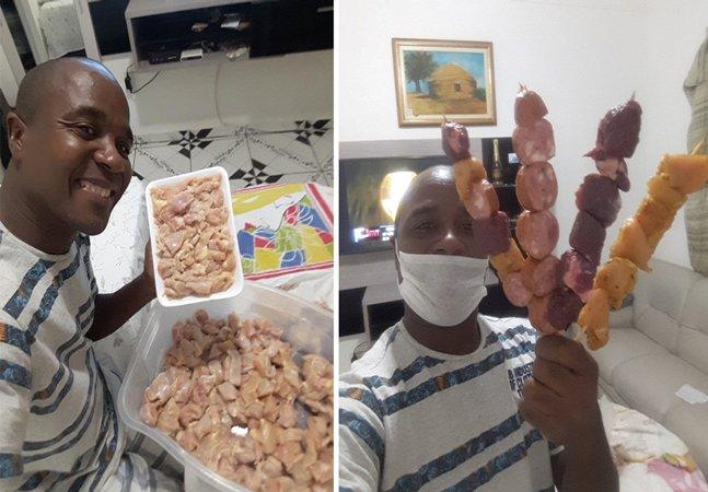 Pra não desperdiçar, vendedor de churrasquinho no RJ procura famílias que precisem de comida e post viraliza