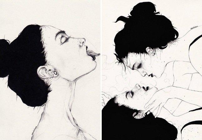 A obscuridade e o erotismo das ilustrações de Kaethe Butcher [NSFW]
